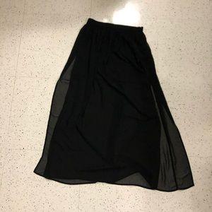 Forever 21 Black Maxi Skirt